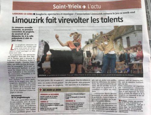 Article dans le journal !
